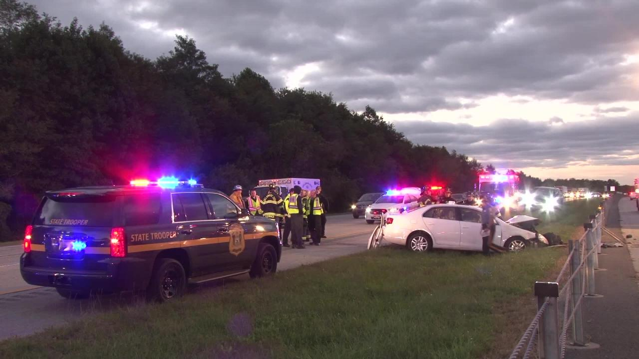 A multi-vehicle crash Thursday morning closed the northbound lanes of Del. 1.  At least one person was injured.  10/18/18