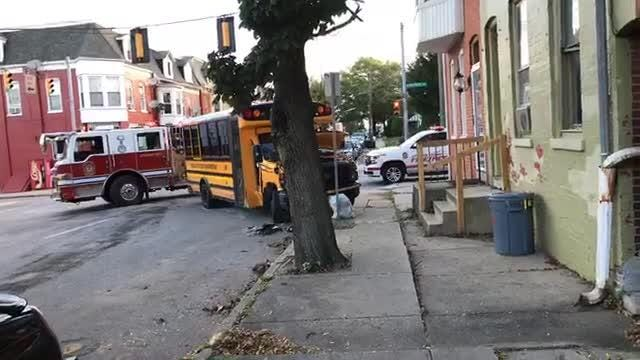 A school bus was involved in a crash on West Philadelphia Street in York on Thursday.