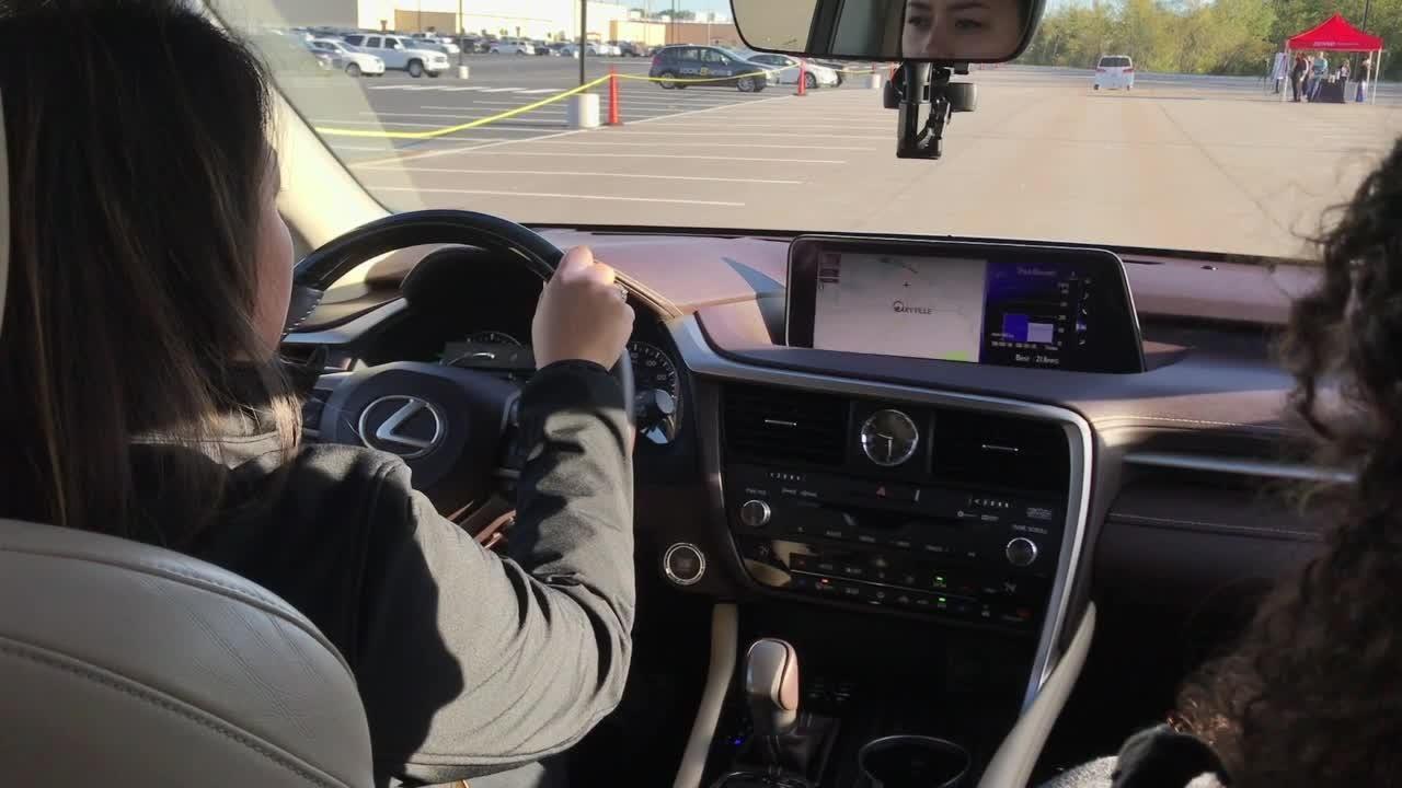 Denso demonstrates autonomous braking vehicle