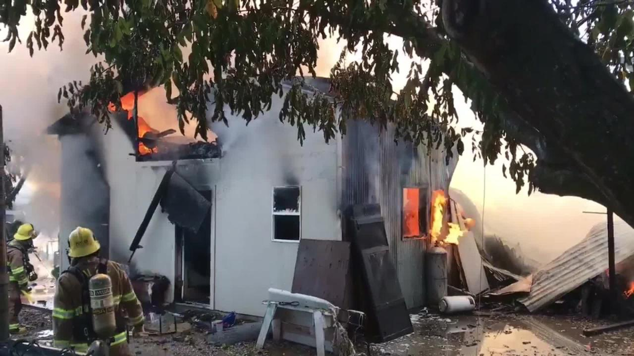 Fire burns down a shop in Anderson