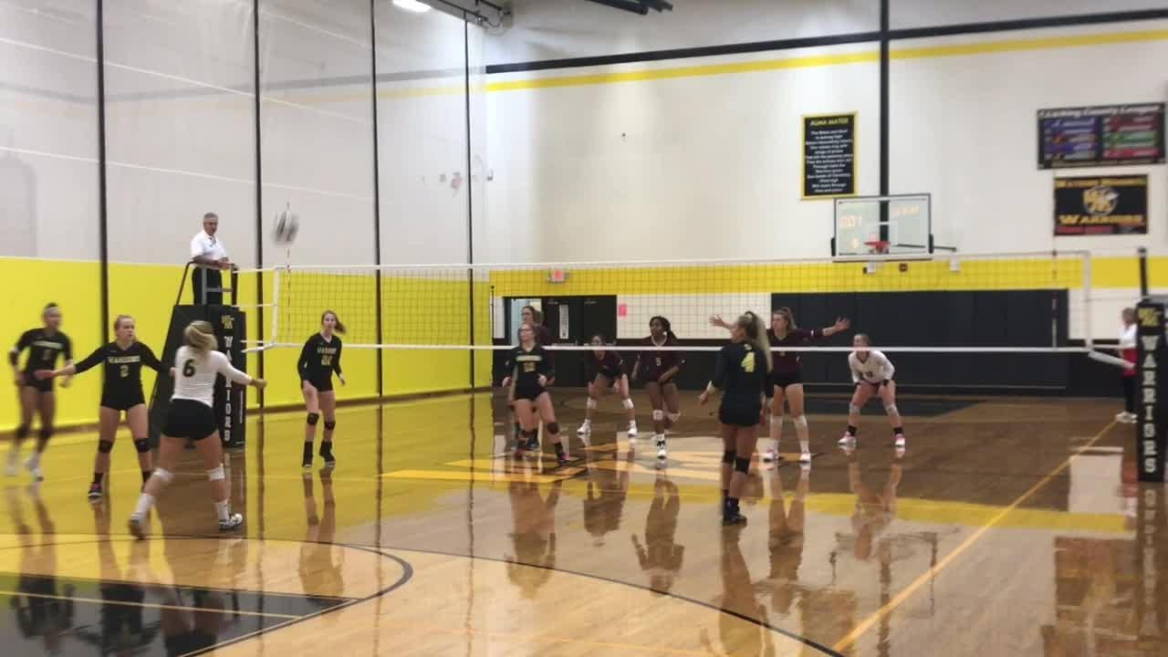 Watkins Memorial volleyball cruises into district semifinals