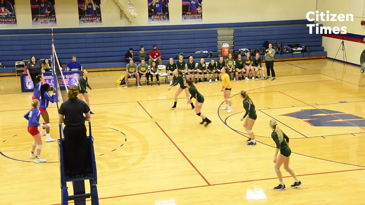 West Henderson defeated Reynolds in their WMAC tournament championship volleyball game
