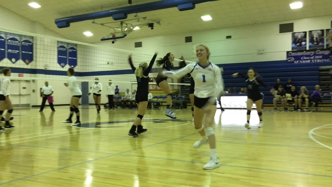 Watch: First Baptist Academy beats Canterbury 3-1 in volleyball district championship