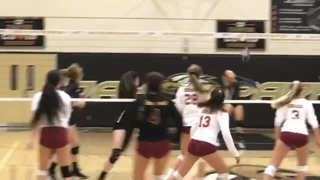 In a back-and-forth battle, Oak Park High outlasts Oxnard in four games to reach the second round of the CIF-SS Division 4 girls volleyball playoffs.