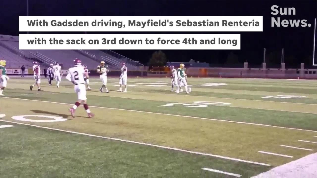 Mayfield beat Gadsden 27-0 Thursday night at the Field of Dreams.