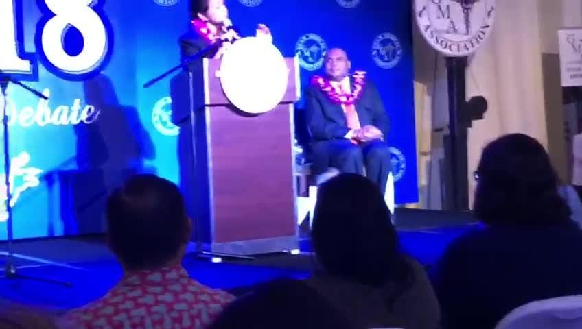 It's a heated debate at the gubernatorial forum hosted by the Guam Medical Association Thursday night. Lt. Gov. Ray Tenorio and Bank of Guam President Lou Leon Guerrero take jabs at each other on health care-related issues.