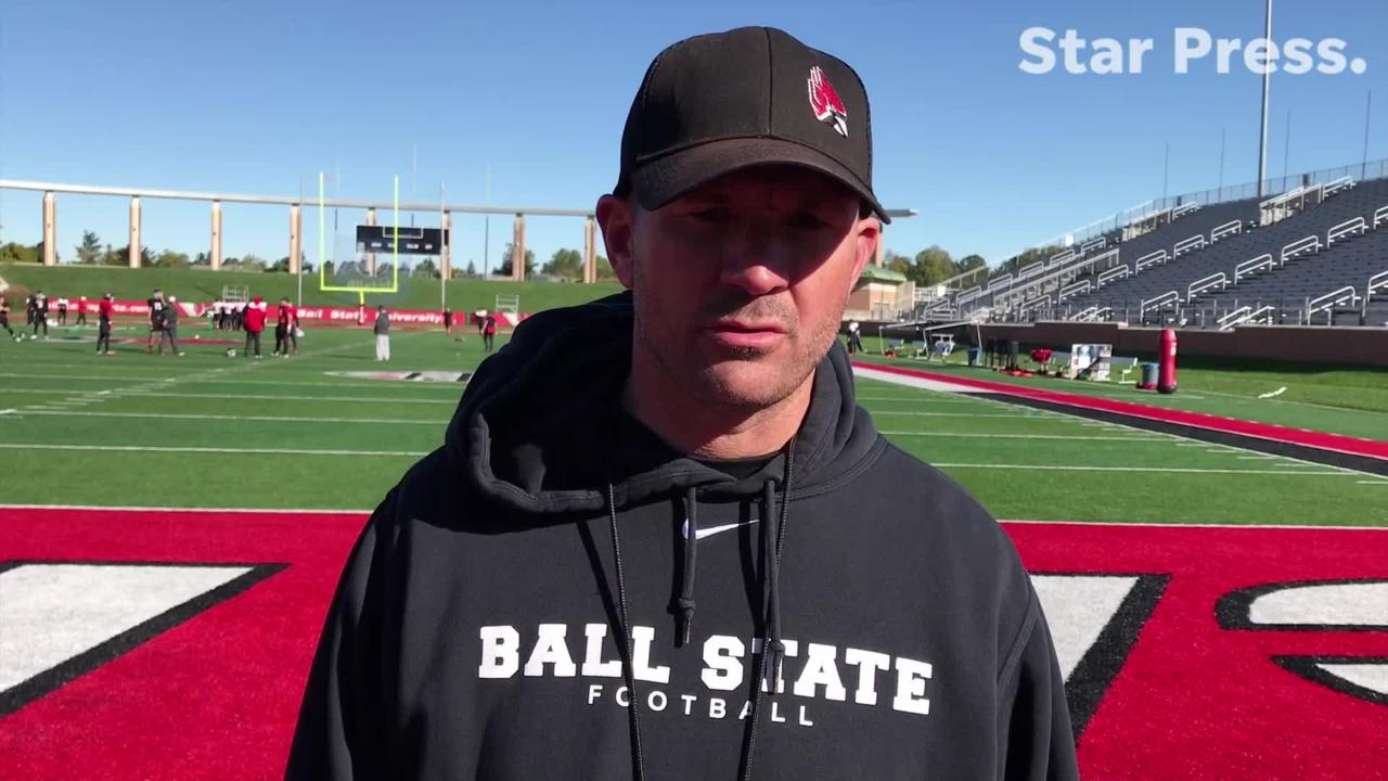 Mike Neu discusses Ball State's progress prior to the game against Eastern Michigan.