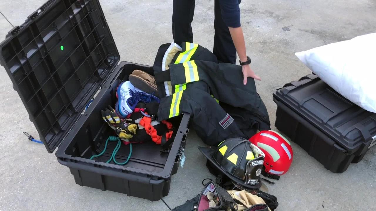 The second wave of first responders headed north Wednesday morning to join a strike team in the Florida panhandle.