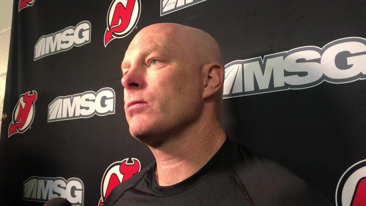 Devils coach John Hynes updates the status of a few players ahead of the trip to Philadelphia to face the Flyers.