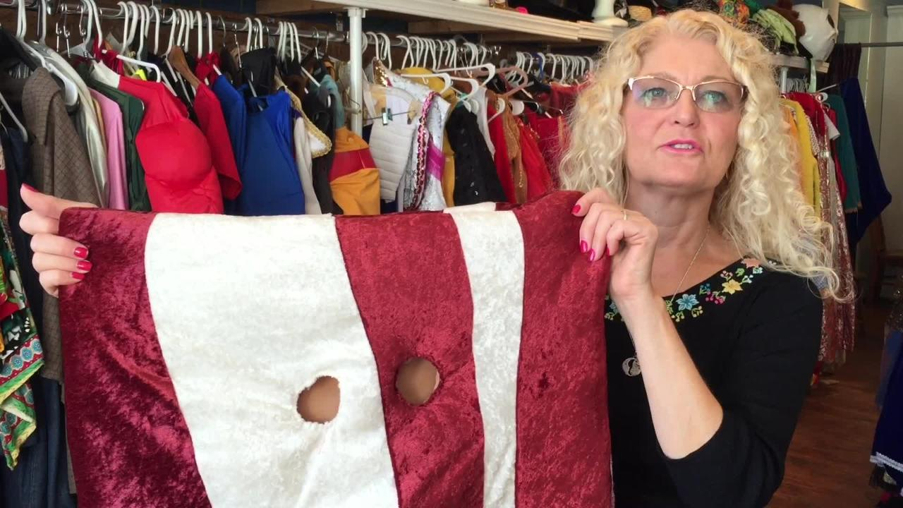 Need a unique Halloween costume? How about bacon? Miniature golf course? Owner of Triple Loop Costume shop in Essex Junction shows off some oddities.