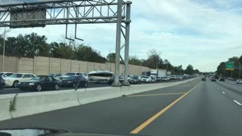 Route 80 west in gridlock after serious accident on Friday afternoon in Rockaway