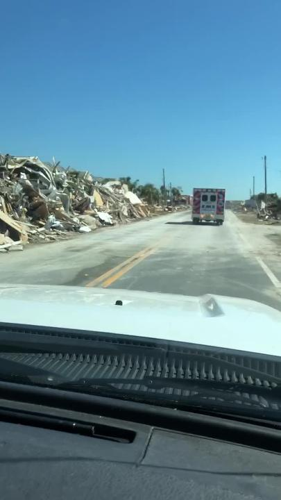 Footage from Collier County paramedics who went north to the panhandle to help after Hurricane Michael.