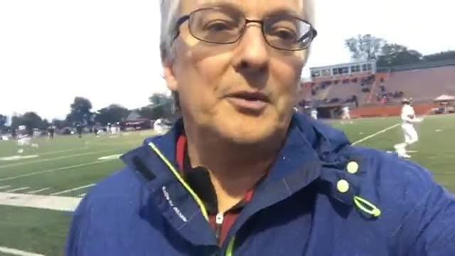 Livingston Daily sports reporter Bill Khan reports in from the Brighton-Belleville game, who are playing for the KLAA title.