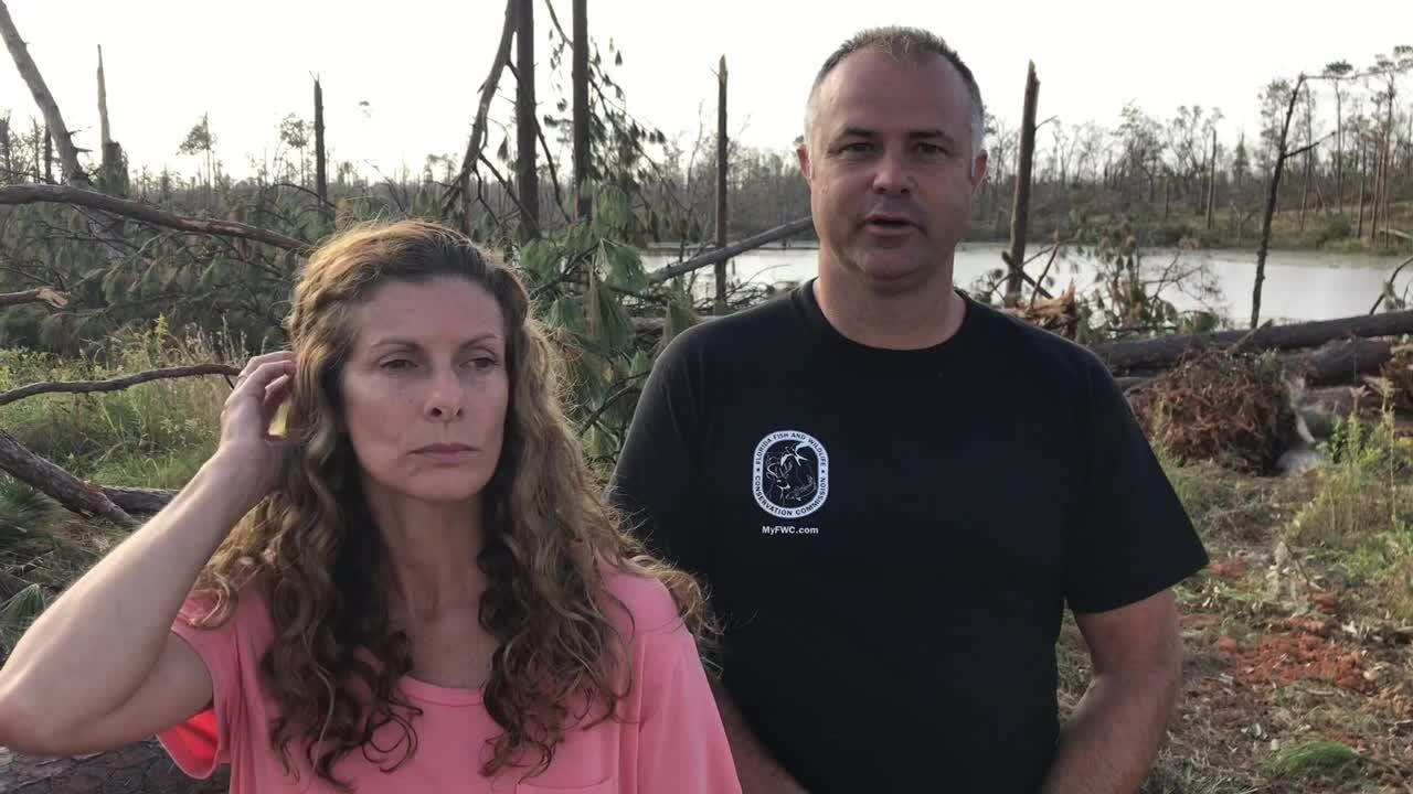 The Bunting family of Sneads spent nearly five hours in a bulldozer during Hurricane Michael.
