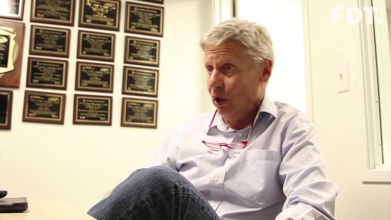 Libertarian Senate candidate Gary Johnson visited The Daily Times on Friday.