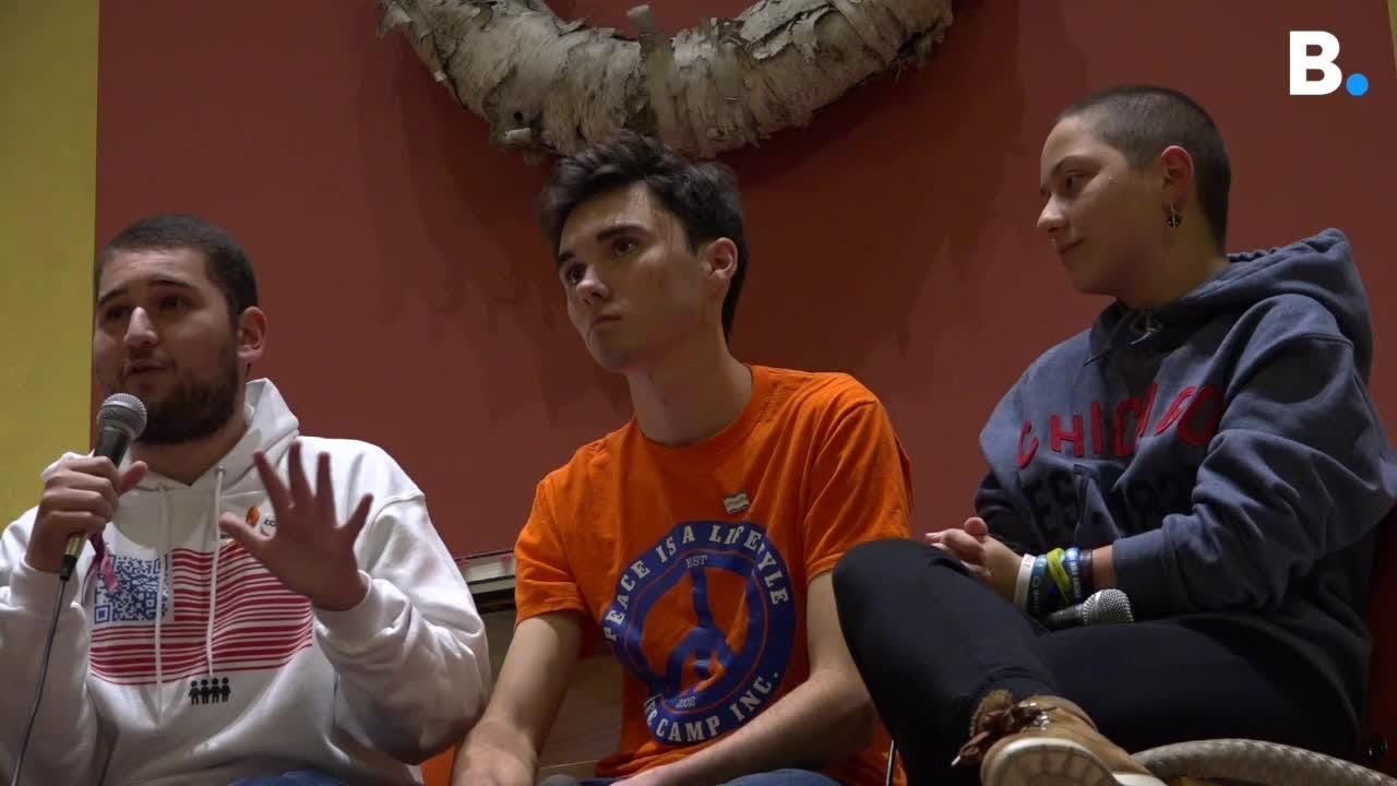 Three survivors of the school shooting in Parkland, Florida, Emma González, David Hogg and Alex Wind, shared experiences and ideas in Burlington.