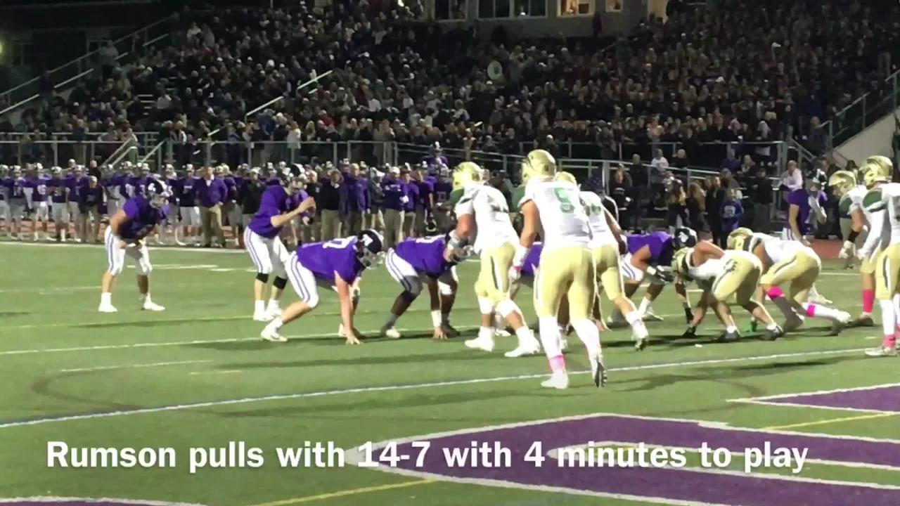 In a classic battle, No. 1 Red Bank Catholic held off No. 2 Rumson-Fair Haven, 14-13