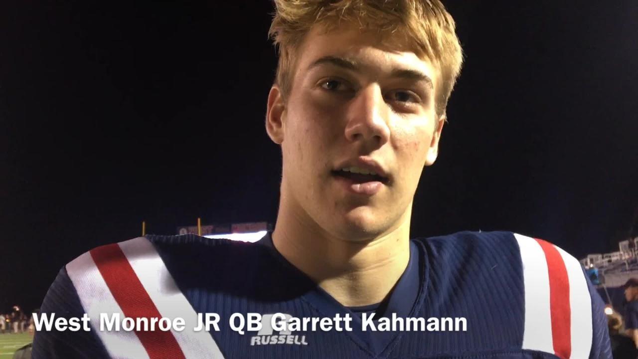 West Monroe junior quarterback Garrett Kahmann details the team's homecoming message of having fun vs. Pineville.