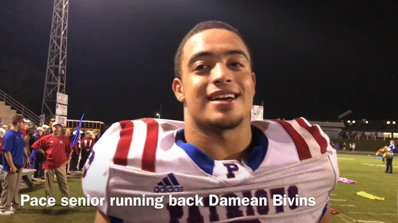 WATCH: Pace's Bivins rushes for seven touchdowns in Tate rout