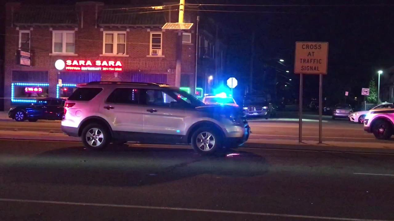 Authorities investigated the scene where a pedestrian was fatally struck on Broadway in Elmwood Park Oct. 19, 2018.
