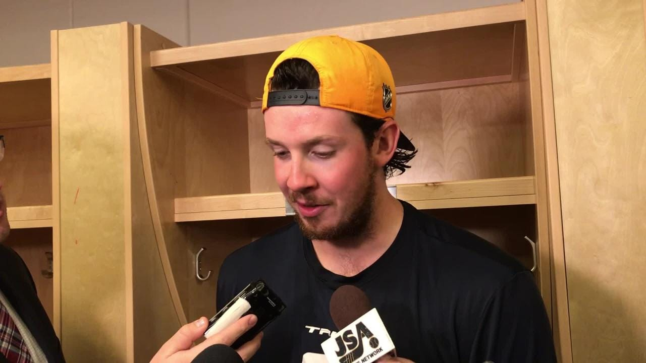 Predators center Ryan Johansen said team is pumped about Zac Rinaldo's first goal with the team