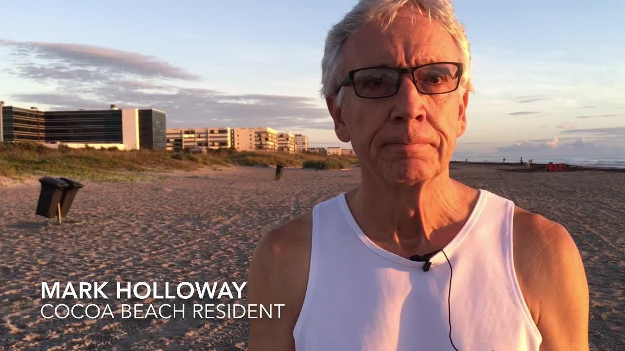Mark Holloway loves the ocean, but he's worried about what's happening with the environment.