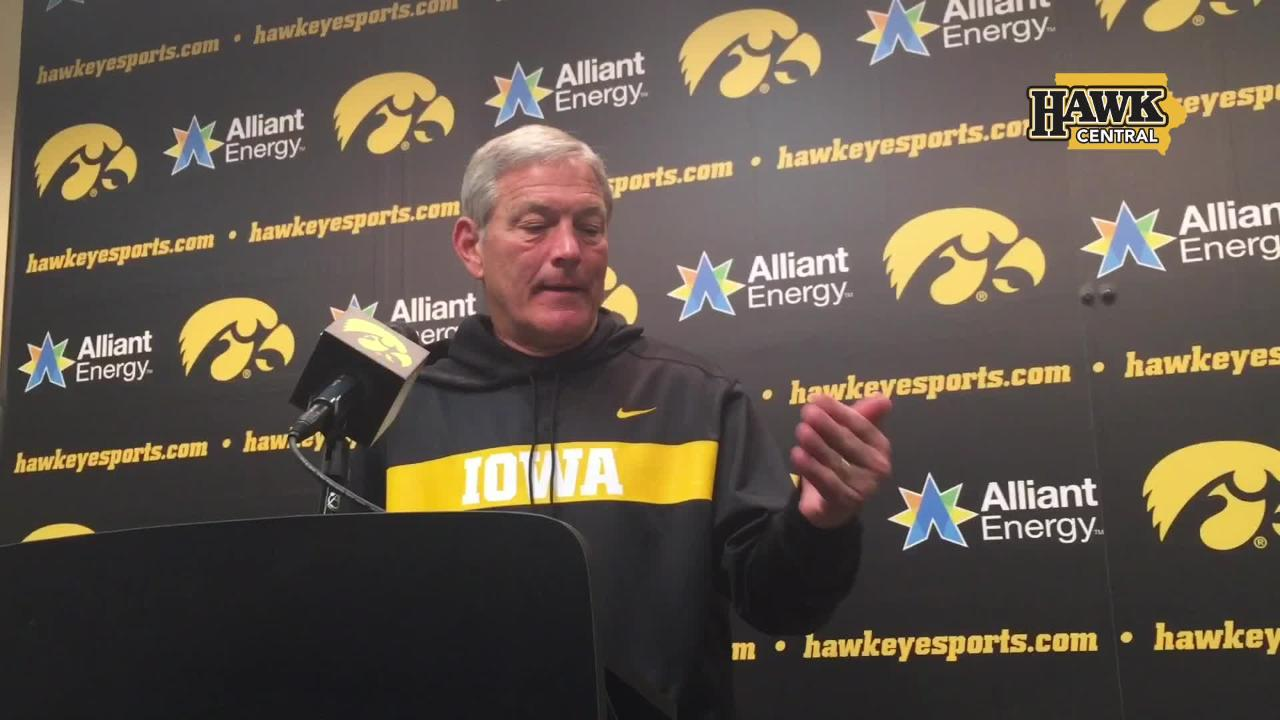 A notable comment from Kirk Ferentz after Iowa's 23-0 shutout of Maryland