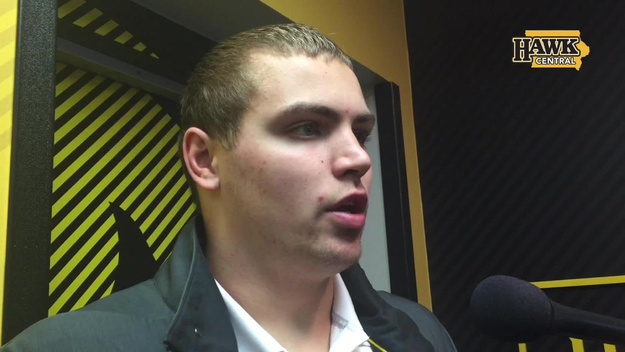 Nate Stanley explains contending with big winds against Maryland