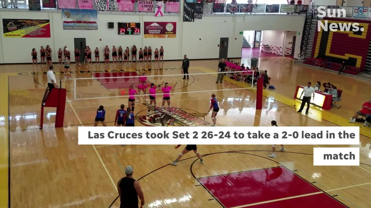 Las Cruces High swept Centennial on Saturday to improve to 9-0 in District 3-5A play.