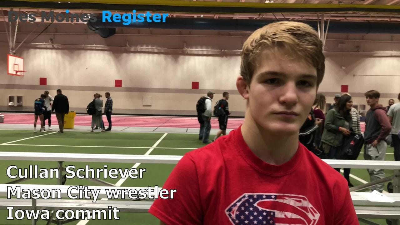 Cullan Schriever, a two-time state champ from Mason City and an Iowa wrestling commit, discusses his performance after the Agony in Ames on Saturday.