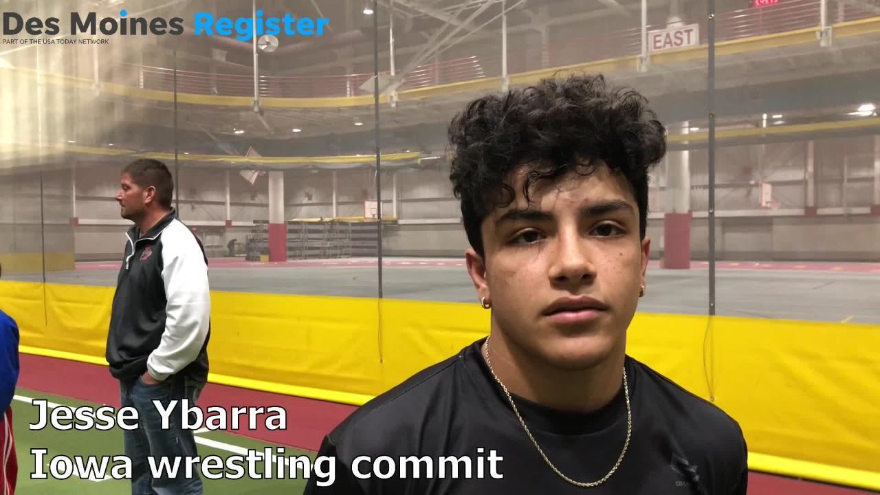 Jesse Ybarra, an Iowa wrestling commit and Arizona standout, won two matches on Saturday at the Agony in Ames. He discussed his matches afterward.