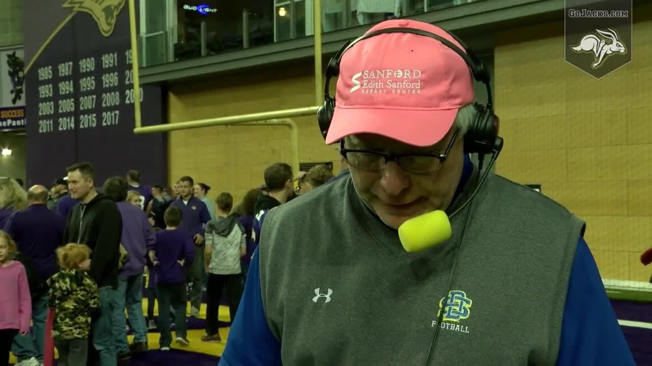 John Stiegelemeier gives his postgame thoughts after the Jacks lost to UNI in a game in which they failed to score a touchdown.