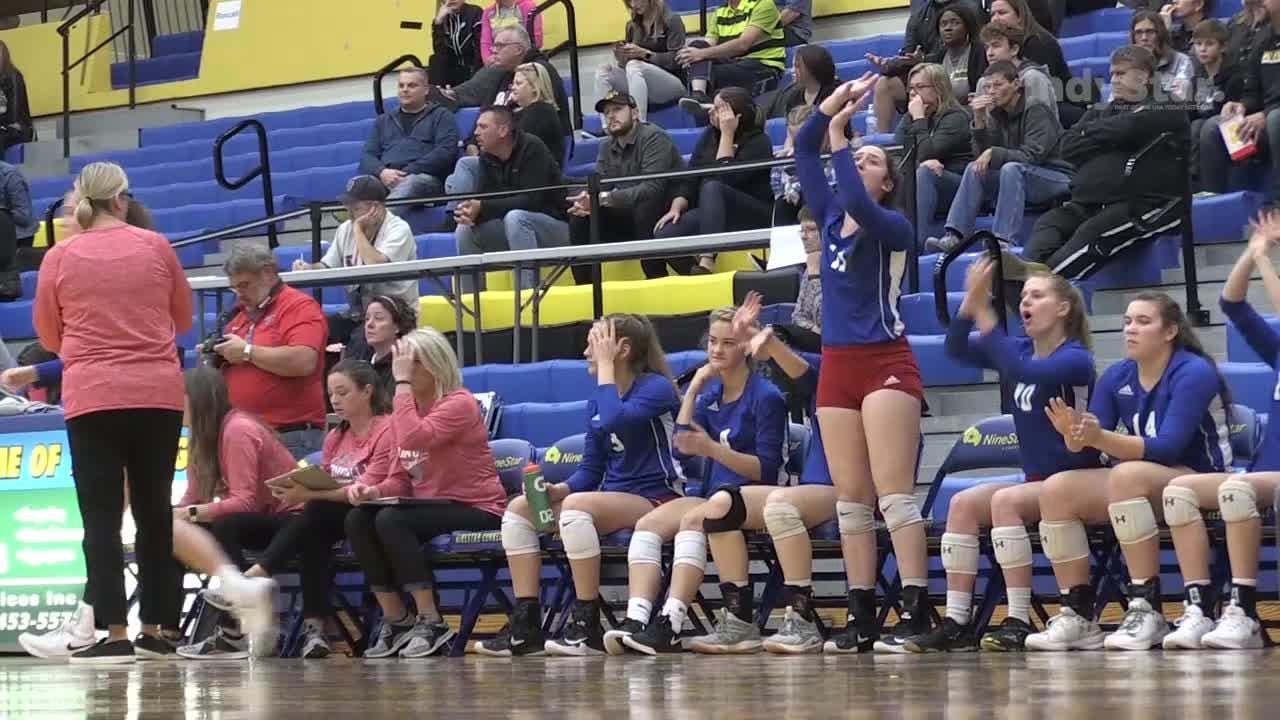 The Avon Orioles defeat Roncalli 25-19, 25-21, 16-25 and