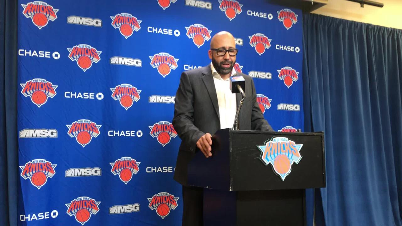 94b3bd8abcec New York Knicks coach David Fizdale on Kevin Knox s injury