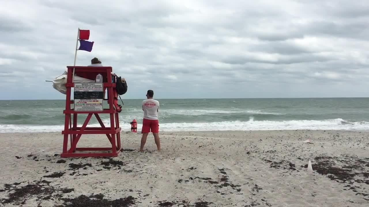 Red tide was not as much of an issue for beachgoers on Sunday as the wind was.