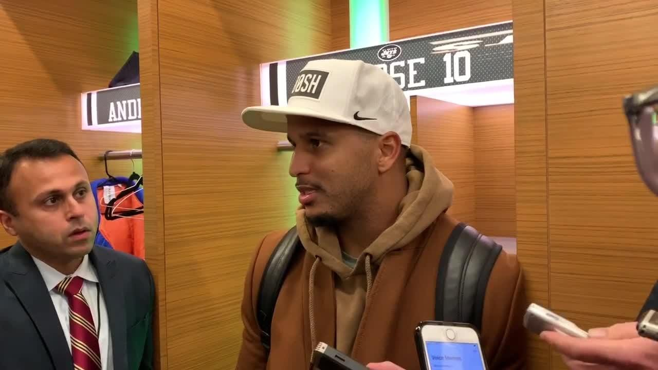 Jets WR Jermaine Kearse talks about the team's 37-17 loss to the Vikings on Sunday at MetLife Stadium.