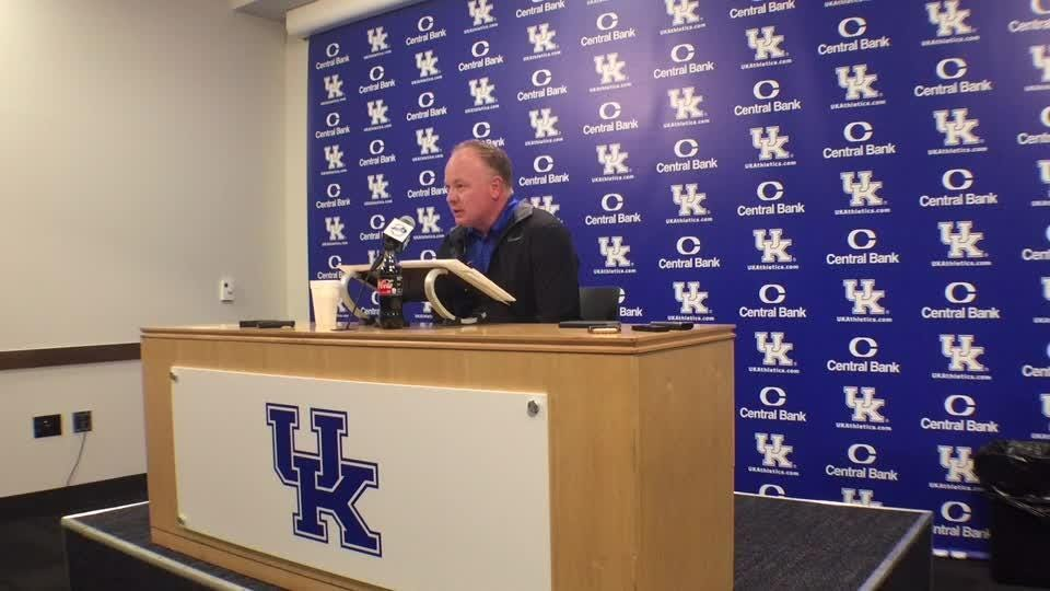 Kentucky coach Mark Stoops will take a longer look at Terry Wilson's backup this week in practice.