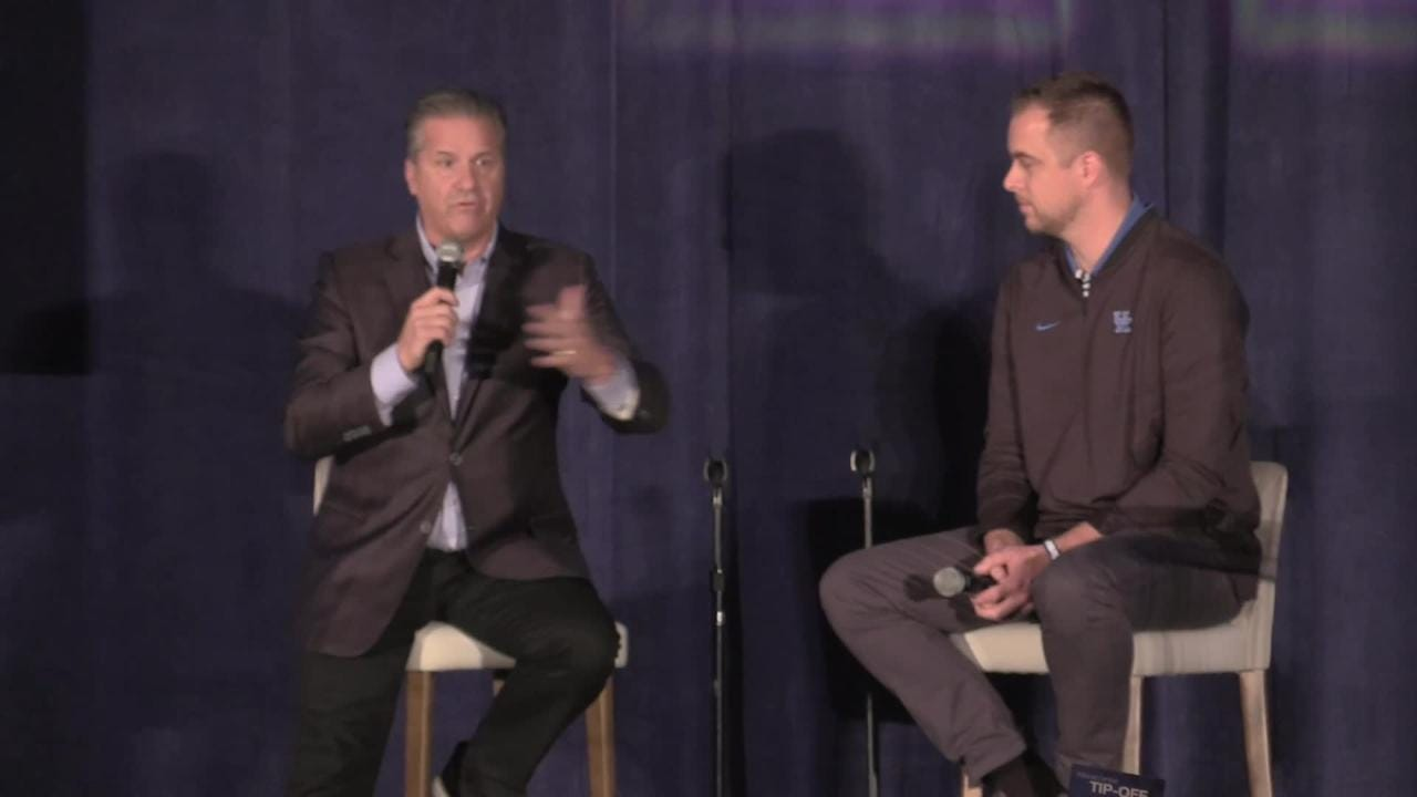 Coach Cal hit a wide range of topics during his 20 minutes on stage