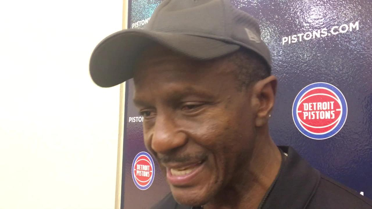 Detroit Pistons coach Dwane Casey speaks to the media on Monday, Oct. 22, 2018, in Auburn Hills.