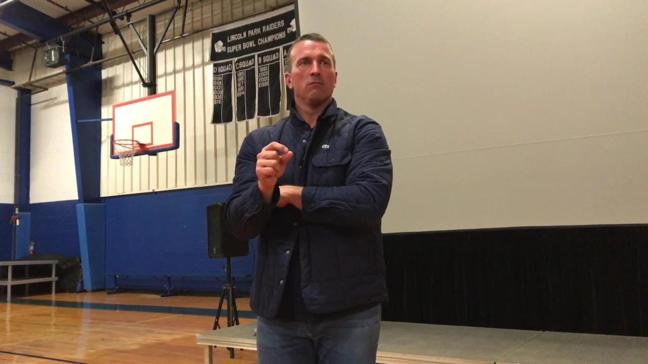 Chris Herren, once a star basketball player whose NBA career was cut short by drug use, shared his gripping story of addiction in Lincoln Park, N.J.