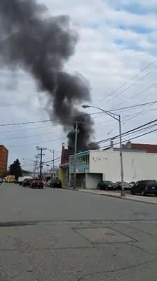 A fire tore through a commercial building in Dover Oct. 22, 2018.