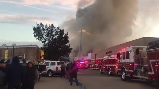 Watch: Firefighters fight huge blaze in Dover