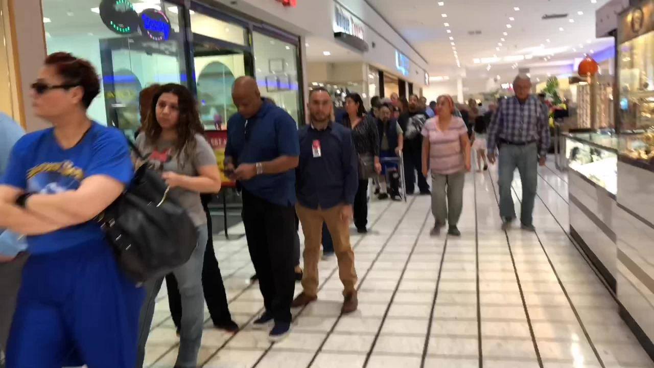 Early Voting first day Bassett Place Mall