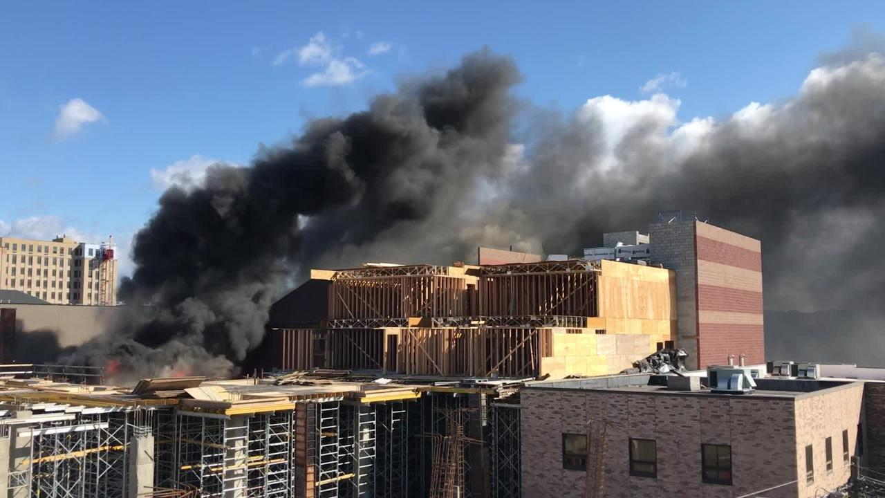 Large Fire Rages At Hackensack NJ Furniture Store