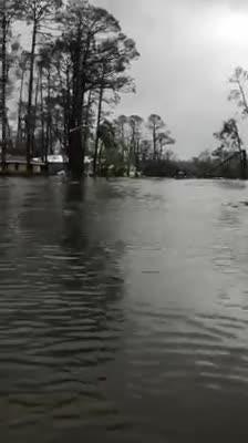 Long Avenue in Port St. Joe during Hurricane Michael  Video