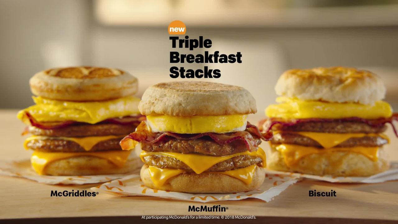 mcdonald s new triple breakfast stack is a whopper of a sandwich