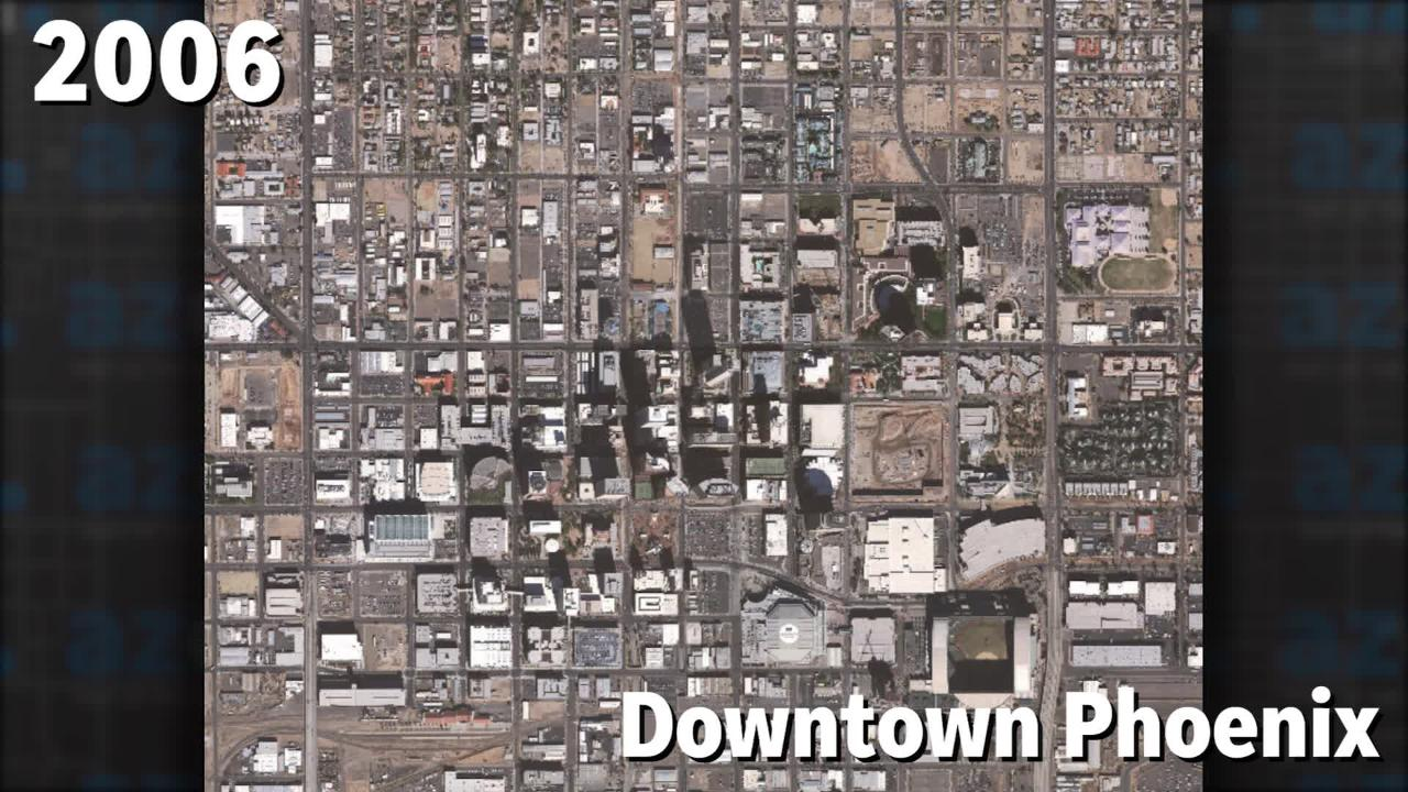 Watch Downtown Phoenix Change Over Time