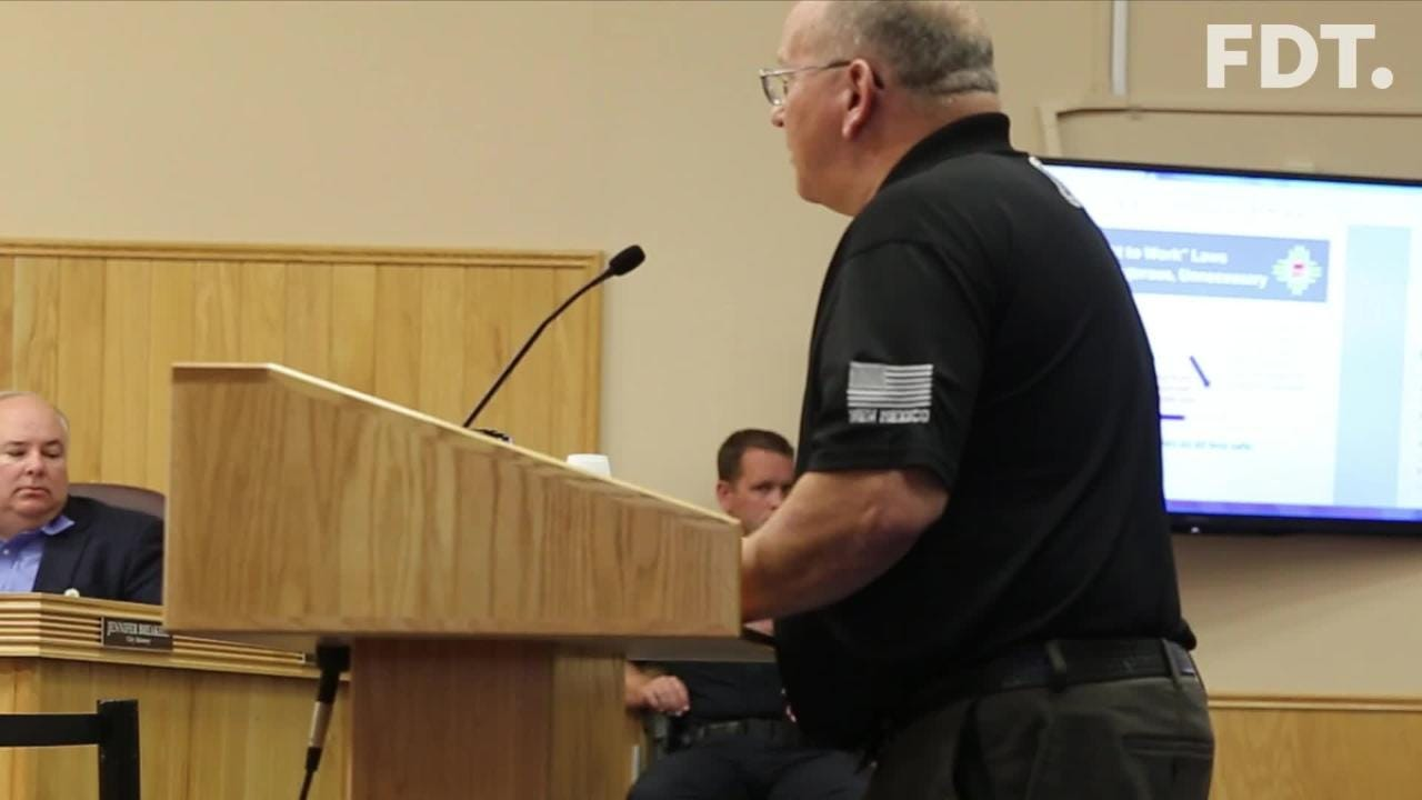 Farmington City Council is researching 'right to work' laws. The council heard from a union representative on Tuesday.
