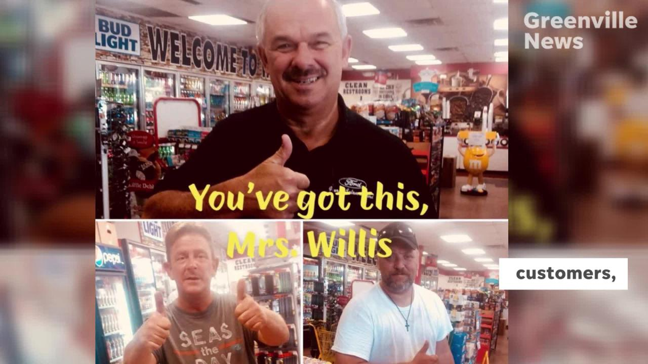 The Travelers Rest community has been showering convenience store  owner W.E. Willis and his wife, Ann, with support since their attack on Sept. 25