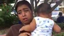 Con bebé en brazos, la hondureña Vanessa Gómez de 28 años explica a La Voz el por qué huye de su país. Ella atraviesa Guatemala y quiere llegar a EU